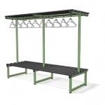 Double sided overhead hanging bench