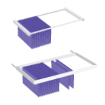 Lateral filing frames