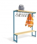 Single sided overhead hanging bench