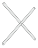 Ikon afstivningkryds (par) 1000 mm
