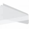 Underkonsol for laminat-, melanin- eller træhylder. 500mm venstre