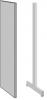 Decorgavl for enkeltsøjle reol 1800×250 i stål