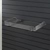 Acrylic shelf with steel bracket for Slatwall