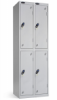 Lockers two tier. Lockers dimension: width = 305mm, Depth = 305mm, height = 1780mm. 2 nest Lockers. Total width = 610 mm