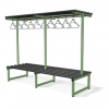 DOUBLE SIDED OVERHEAD HANGING BENCH. LENGTH = 1000mm. SEAT DEPTH = 380mm . SEAT HEIGHT = 405mm. A = 1840mm