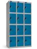 Lockers four tier.Lockers dimension: width = 305mm, Depth = 305mm, height = 1780mm.3 nest Lockers.Total width = 915 mm