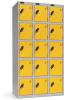 Lockers five tier.Lockers dimension: width = 305mm, Depth = 305mm, height = 1780mm.3 nest Lockers.Total width = 915 mm