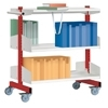 Book trolley  include barcket & shelves